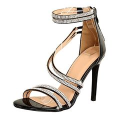 fe016bb80b04 Guilty Shoes Women Sexy Metallic Ankle Strap Zip Up Dress - Open Toe  Stiletto Sandals Sandals