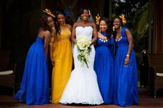 667b3700d6b The blue is fantastic! Such a stylish wedding party