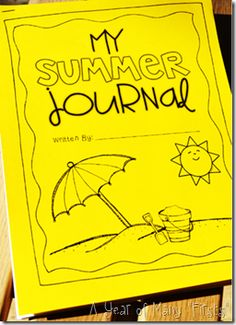 summer journal with cute summery pages...students can write about their summer adventures!