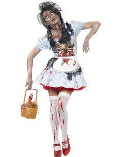 Horror Zombie Dorothy Märchenkostüm Halloween Damenkostüm hellblau-weiss. Halloween Kostüme / Halloween Kostüme Damen. Wer behauptet, dass man Märchenkostüme nicht an Halloween tragen kann, der hat unsere Zombiefrau Dorothy noch nicht getroffen!