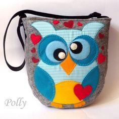 Owl Bird, Kids Bags, Bag Organization, Kids House, Handmade Art, Purses And Bags, Diaper Bag, To My Daughter, Coin Purse