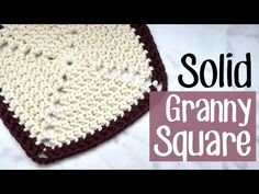 How to Crochet a Solid Granny Square - easy! - YouTube