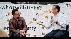 Singer and activist Bono and World Bank President Jim Yong Kim talk solutions and actions needed to end extreme poverty. Watch and listen when they discuss w. Jim Yong Kim, World Poverty, Something's Gotta Give, Do Love, What You Think, Cool Bands, Inspire Me, Presidents, Believe