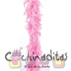 Las boas de pluma harán ver a todas las chicas muy elegante para ese día... #LasBatucadasDeCochinaditas