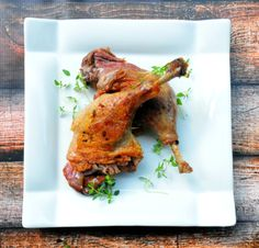 Simple Duck Confit. Simple & Delicious. Perfect dinner recipe for anyone following the Paleo or Low Carb diet.