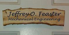 Rustic office door name plate or sign - 100% custom