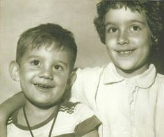 Ayrton with his elder sister during childhood