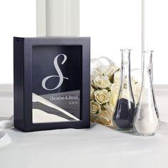 Black Unity Sand Shadow Box Set | #exclusivelyweddings | #blackandwhitewedding