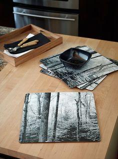 Boreal forest laminated cork place mats  Set of 4 - Hardback - Assorted