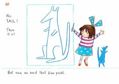 How to draw… blue kangaroo | Children's books | The Guardian Book Sites, You Draw, The Guardian, Kangaroo, Childrens Books, Drawings, Blue, Painting, Fictional Characters