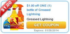 $1.00 off ONE (1) bottle of Greased Lightning