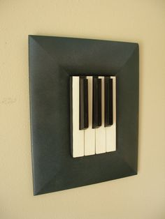 Just some piano keys in a frame! Vintage 1800's upcycled piano art by skramstadprimitives, $35.00 #decor #DIY