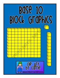 Base 10 Blocks Graphics FREEBIE