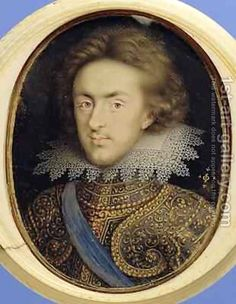 Miniature portrait of Henry 1594-1612 Prince of Wales by Isaac Oliver