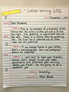 Teach your students the essential skill of basic letter writing! Using visuals helps students by providing a reference for when they need to remember parts of a letter. English Writing Skills, Writing Lessons, Teaching Writing, Writing Activities, Teaching Kindness, Email Writing, Grammar Lessons, Academic Writing, Essay Writing