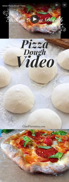 Authentic Italian Thin Crust Pizza Dough Recipe VIDEO | CiaoFlorentina.com @CiaoFlorentina