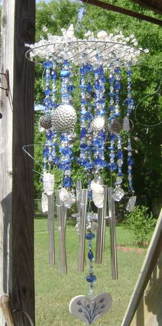 Blue and Silver windchime