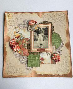 Layout Graphic45 Vintage World Maps, November, Scrap, Layout, Frame, Cross Stitch, Sharpies, November Born, Picture Frame