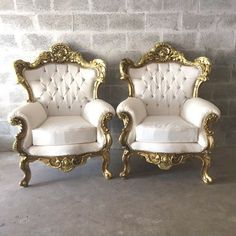 Rococo Furniture Settee Chair 3 Piece Available* Antique Italian Throne Bergere Sofa Gold Leaf White Leather Tufted Settee Baroque Louis XVI Furniture Depot, Home Decor Furniture, Rustic Furniture, Luxury Furniture, Vintage Furniture, Furniture Design, Outdoor Furniture, Upcycled Furniture, Rococo Furniture