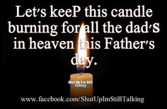 a candle 4 Fathers day