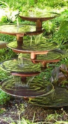 Garden fountain. wow so lovely