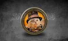 Steampunk Cat  Handmade Antique Bronze Dresser Knobs door jade4wood