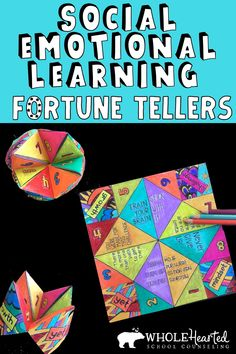 6 Different Fortune Tellers for Lessons & Group Activities Fun Social Emotional Learning Activity! 6 Different Fortune Tellers for Lessons & Group Activities,WholeHearted School Counseling TPT pins Teachers &. Self Esteem Activities, Counseling Activities, Group Activities, School Counseling, Therapy Activities, Primary School Counselling, Self Advocacy, Coping Skills, Social Skills