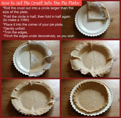 Pie Crust Tutorial:  How to successfully get the pie crust from the mat onto the pie plate.