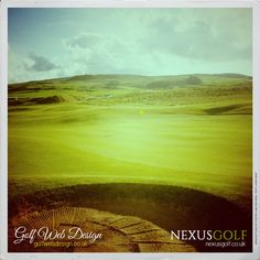 Beautifully shaped and raked bunkers on this natural links course.