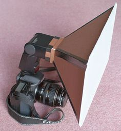 Store bought soft box = expensive. Get rid of harsh shadows with this easy to make soft box...