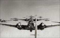 German Heinkel 111 bombers.