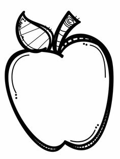Apple Clipart Black And White | Clipart Panda - Free ...