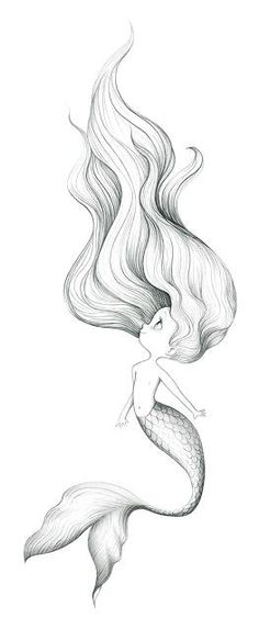 How to draw a beautiful mermaid la by the little mermaid cute mermaid mermaid art how . how to draw a beautiful Mermaid Tattoo Designs, Mermaid Drawings, Mermaid Tattoos, Mermaid Art, Mermaid Sketch, Drawings Of Mermaids, Baby Mermaid Tattoo, Octopus Mermaid, Mermaid Paintings