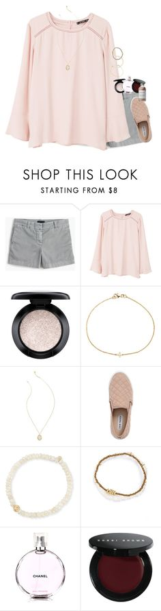 """""""Dunkirk Review!"""" by mac-moses ❤ liked on Polyvore featuring J.Crew, MANGO, MAC Cosmetics, Ileana Makri, Lilly Pulitzer, Steve Madden, Sydney Evan, Me to We, Chanel and Bobbi Brown Cosmetics"""