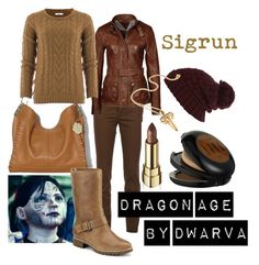 """Dragon Age - Sigrun"" by dwarva ❤ liked on Polyvore featuring Vince Camuto, Dsquared2, MÃ«naji, Tommy Hilfiger, Dolce&Gabbana, River Island, Sperry Top-Sider and LeiVanKash"