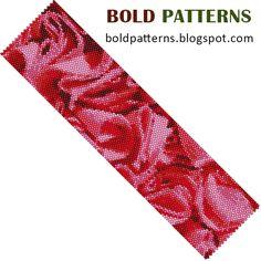 Bead Pattern peyote stitch bracelet by BoldPatterns on Etsy