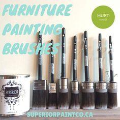Round Chalk Furniture Paint Brush