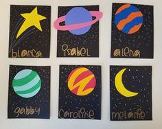 Space themed door decs #stars #planets #doordecs #space