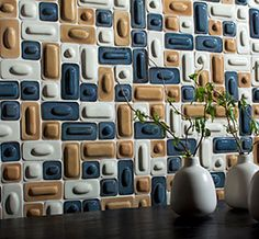 Our Merge Ceramic Tile brings a Kool feel and zing to any wall