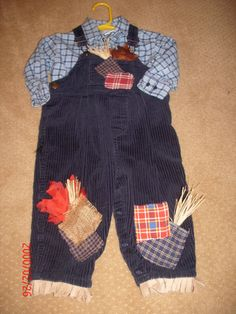 baby  boy handmade Halloween scarecrow costume by tinatownley15066, $20.00