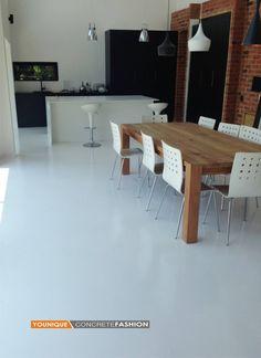 White epoxy floor | projects@floatdesign.co.za