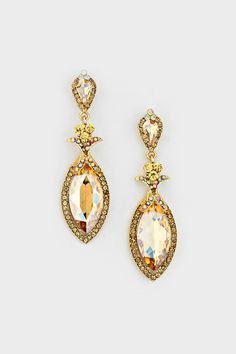 Marquise Alexandra Earrings in Colorado Topaz on Emma Stine Limited