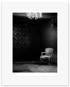 Fine Art Print, Black and White Photography - Archival Print - Mounted, Limited Edition, Contemporary Wall Art - Decadent Chair - Var #09 by Muteimage on Etsy