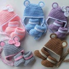Knitted baby and child hat - Knitting, Crochet Love Crochet Baby Clothes, Crochet Shoes, Crochet Baby Hats, Cute Crochet, Baby Knitting, Knit Crochet, Knitted Baby, Baby Patterns, Crochet Patterns