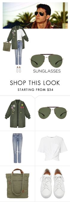 """Vintage Love: Retro Sunglasses"" by sharmarie ❤ liked on Polyvore featuring Ray-Ban, WithChic, Gucci, GRLFRND, T By Alexander Wang, Fjällräven, Loeffler Randall and vintage"
