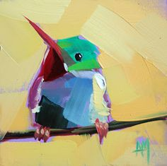 Tody Bird no. 12   angela moulton's painting a day