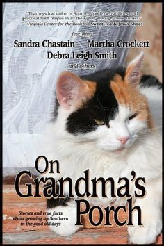 "On Grandma's Porch by Sandra Chastain, Sarah Addison Alle Deborah Smith. $7.22. 242 pages. Publisher: BelleBooks (June 30, 2007). Stories and ""True Facts"" about growing up Southern in the good old days. More than a dozen southern authors contribute warm, nostalgic stories and fun trivia about ""the era before shopping malls, Disney, and Wal-Mart."" Includes the authors' favorite nostalgic recipes.                            Show more                               Show less"