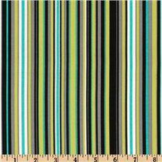 Michael Miller Lagoon Play Stripe Lagoon - Discount Designer Fabric - Fabric.com