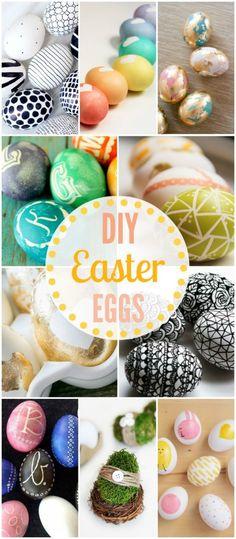 50+ DIY Easter Eggs