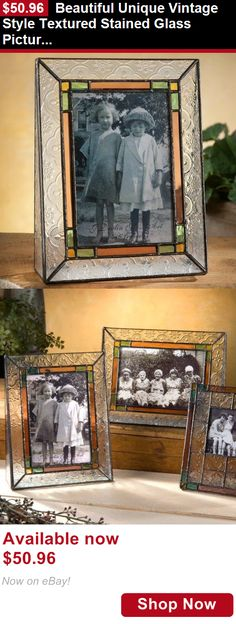 Baby Picture Frames: Beautiful Unique Vintage Style Textured Stained Glass Picture Frame - Holds 4X6 BUY IT NOW ONLY: $50.96